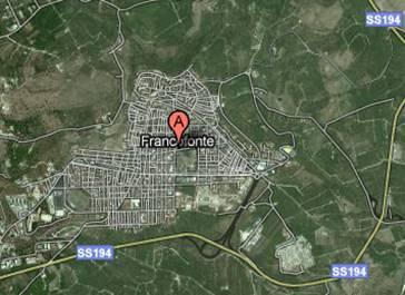 rilievo satellitare Francofonte