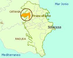 posizione geografica Francofonte